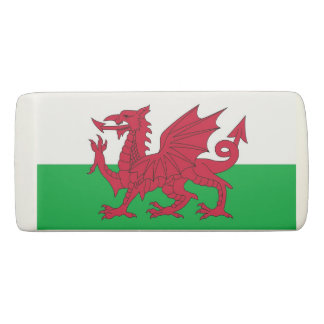 De patriottische Gom van de Wig met vlag van Wales Gum