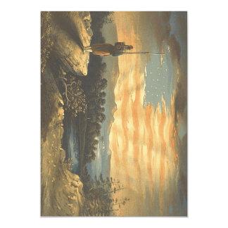 De Patriottische Hemel van het T-SHIRT 12,7x17,8 Uitnodiging Kaart