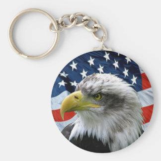 De patriottische Kale Amerikaanse Vlag Keychain va Sleutelhanger