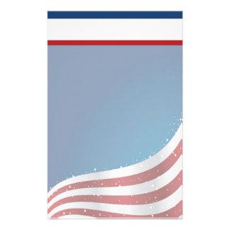 De patriottische Kantoorbehoeften van de V.S. met Briefpapier