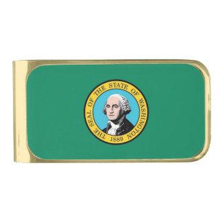 De patriottische Klem van het Geld met vlag van de Vergulde Geldclip