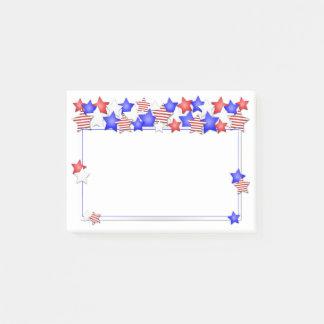 De Patriottische Sterren Amerikaan van de Dag van Post-it® Notes