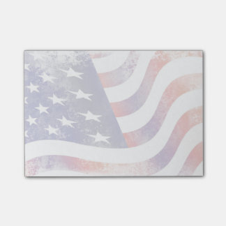 De patriottische Stijl Grunge verdween Amerikaanse Post-it® Notes