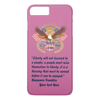 De patriottische Stoffige Vrede van de Vrijheid iPhone 8/7 Plus Hoesje