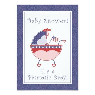 De patriottische Uitnodiging van het Baby shower