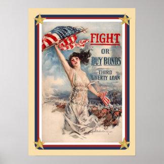 De patriottische V.S. plakken Poster