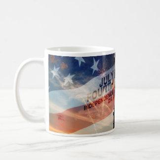 De patriottische van de de damevrijheid van de koffiemok