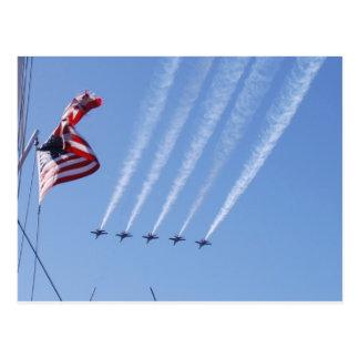 De patriottische Vlag en de Vliegtuigen van de Briefkaart
