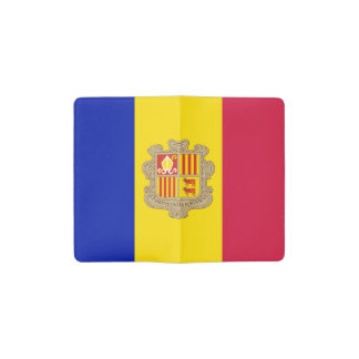 De patriottische Vlag van Andorra Pocket Moleskine Notitieboekje