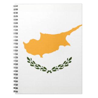 De patriottische Vlag van Cyprus Ringband Notitieboek