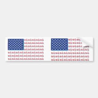 De patriottische Vlag van de Motorfiets met een Bl Bumpersticker