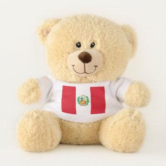 De patriottische vlag van de Teddybeer van Peru