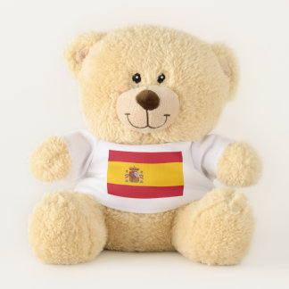 De patriottische vlag van de Teddybeer van Spanje