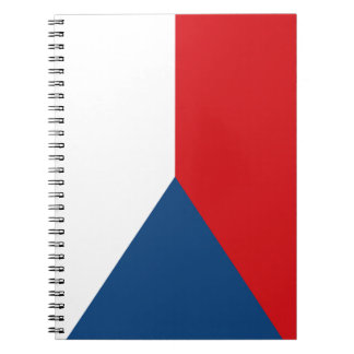 De patriottische Vlag van de Tsjechische Republiek Ringband Notitieboek