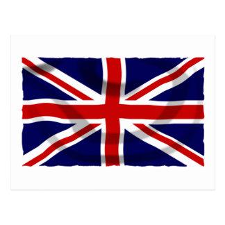De patriottische Vlag van Union Jack van het Briefkaart