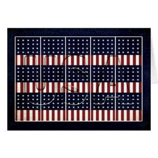 De patriottische Vlaggen van de V.S. - God zegen Briefkaarten 0