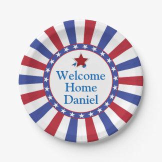 De patriottische Welkome Partij van het Huis Papieren Bordje