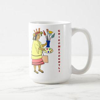 De patroongod van Chicomexochtli van Koffiemok