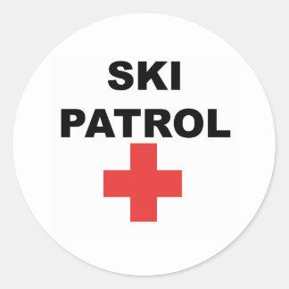 De Patrouille van de ski Ronde Sticker