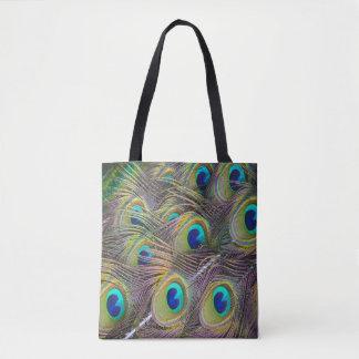 De pauw bevedert mooie bolsa het winkelen zak draagtas