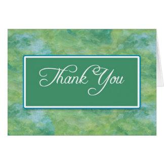De pauw de Blauwe & Groene Zaken u danken neemt Notitiekaart
