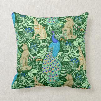 De Pauw van de Jugendstil, Blauw & Groen Kobalt Sierkussen