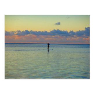 De peddel van de Baai van Tumon het inschepen Briefkaart