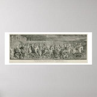 De pelgrims van Canterbury door William Blake Poster