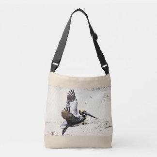 De pelikaan drukte het DwarsCanvas tas van het