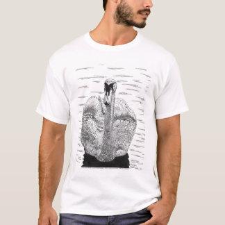De Pen van de zwaan en de Tekening van de Inkt T Shirt