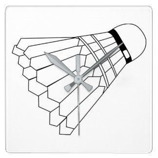 De Pendel van het badminton Vierkante Klok