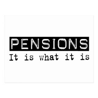 De pensioenen het is briefkaart