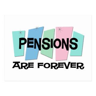 De pensioenen zijn voor altijd briefkaart