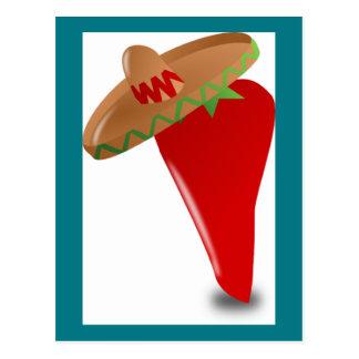 De Peper van de Spaanse peper met Pet Briefkaart