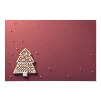 De Peperkoek van de kerstboom met Gouden Ballen Fotoafdruk
