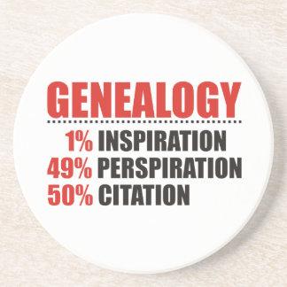 De Percentages van de genealogie Zandsteen Onderzetter