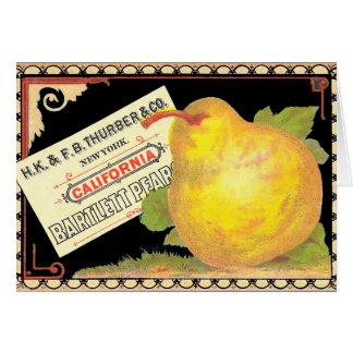 De Peren van Thurber - het Vintage Etiket van het Briefkaarten 0