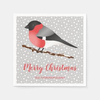 De Personaliseerbare Vogel van de Winter & de Papieren Servet