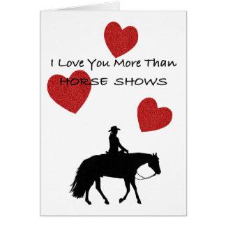 De Persoon Grappig Valentijn van het paard Wenskaart