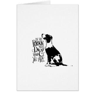 De persoon van de hond briefkaarten 0