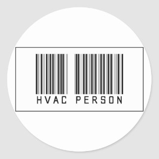 De Persoon van de streepjescode HVAC Ronde Sticker