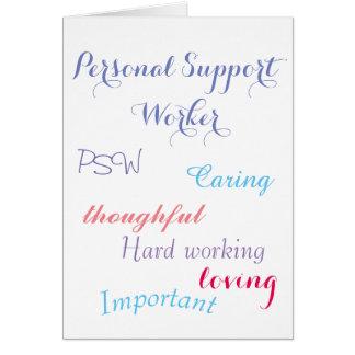 De persoonlijke Arbeider PSW van de Steun Briefkaarten 0