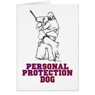 De persoonlijke Hond van de Bescherming Wenskaart