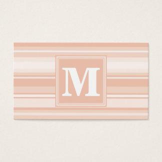 De perzikstrepen van het monogram visitekaartjes
