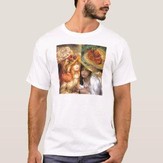 De petten met bloemen zijn meesterwerken in het t shirt