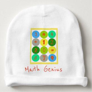 De Peuter Beanie van het Genie van de wiskunde Baby Mutsje