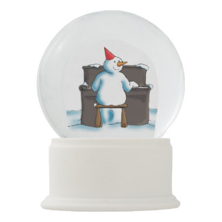 De pianist sneeuwbol