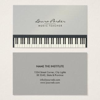 De Pianist van de Musicus van het Toetsenbord van Visitekaartjes