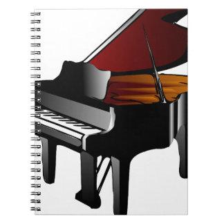 de piano polijst zwarte ringband notitie boek