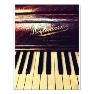De Piano van de familie Foto Afdrukken